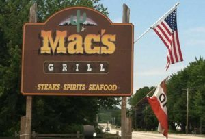 Mac's Grill sign