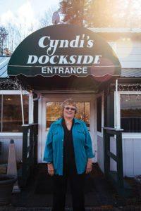 Cyndi Robbins outside Cyndi's Dockside