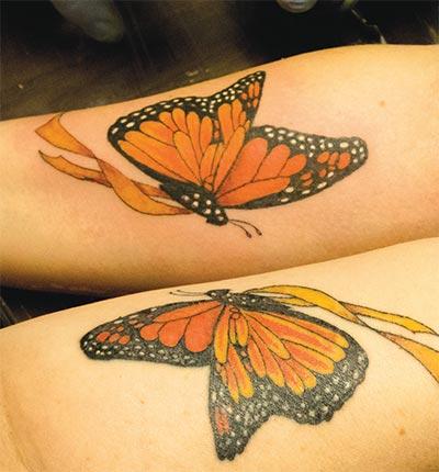 Captain Morgan Tattoo - Matching Butterflies