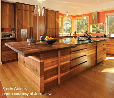 McIntosh & Company Cabinetmakers Lewiston Maine - Rustic Walnut Kitchen