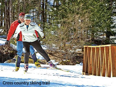 Cross Country Skiing at Pineland Farms