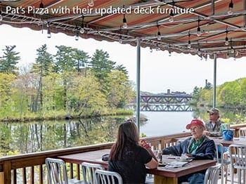 Outdoor Cafe's of LA - Pat's Pizza - Auburn, ME