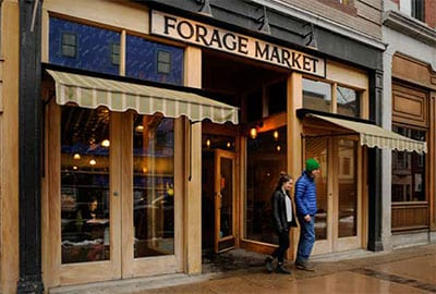 Forage Market Store Front - Lisbon St. Lewiston Maine