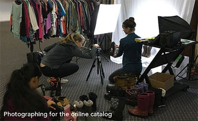 Pink Feather Foundation Photographing for Online Catalog - LA Metro Magazine