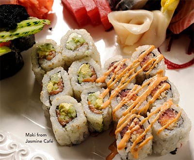 Maki from Jasmine Cafe Auburn Maine