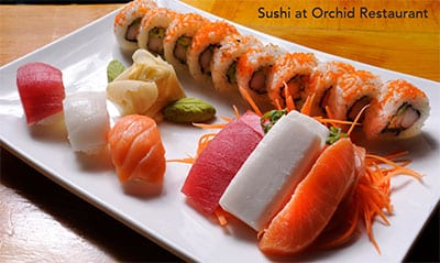 Sushi at Orchid Restaurant - LA Metro Magazine