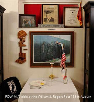 POW MIA Table at American Legion Post 153 , Auburn Maine