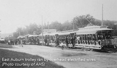 East Auburn Trolley in Auburn Maine - Courtesy of AHS