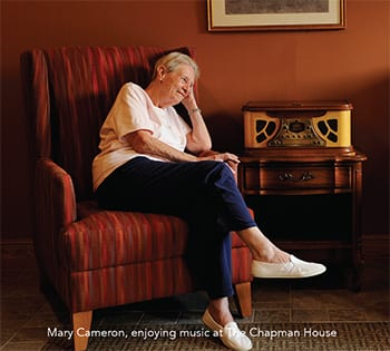 Mary enjoying music at The Chapman House Auburn Maine