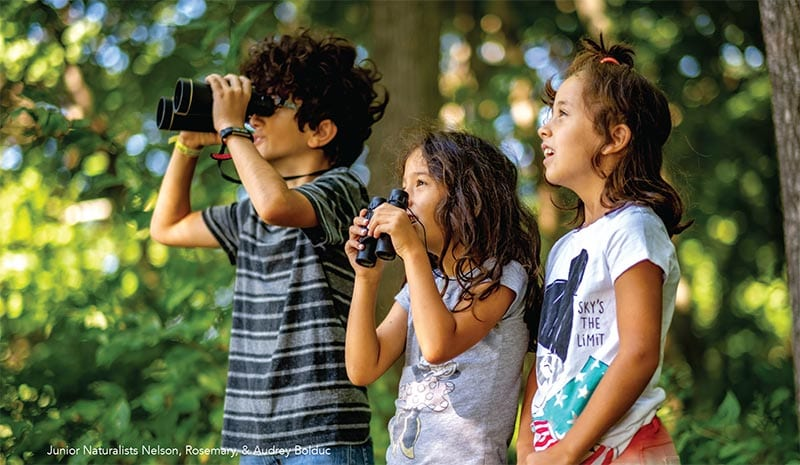 Junior Naturalists birdwatching at Thorncrag Bird Sanctuary