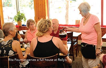 Rita Serving Customers at Rolly's Diner